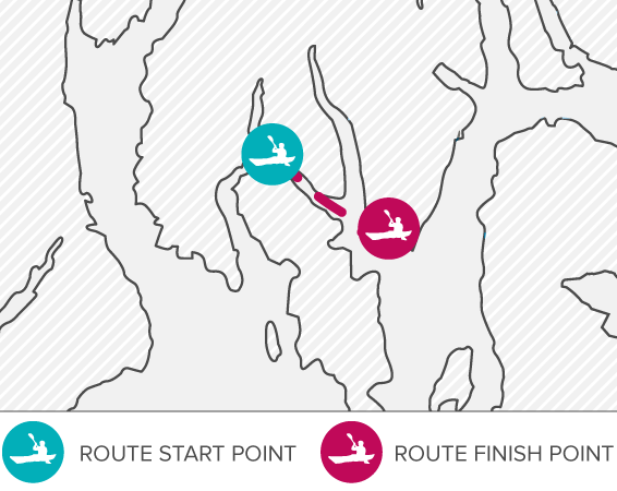 Routes - North Bute to Toward
